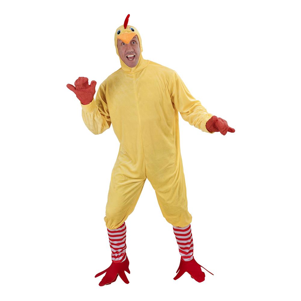 Kyckling Jumpsuit Maskeraddräkt - Small