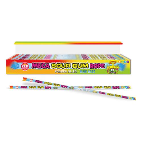 Mega Sour Gum Rope - 100 gram