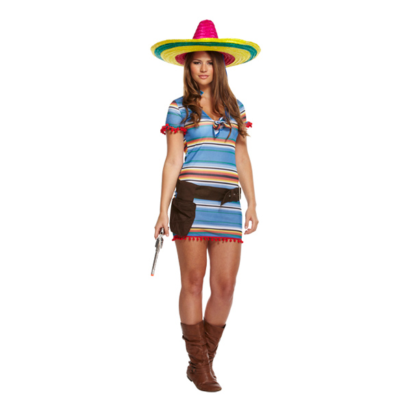 Mexikansk Kvinna Maskeraddräkt - One size
