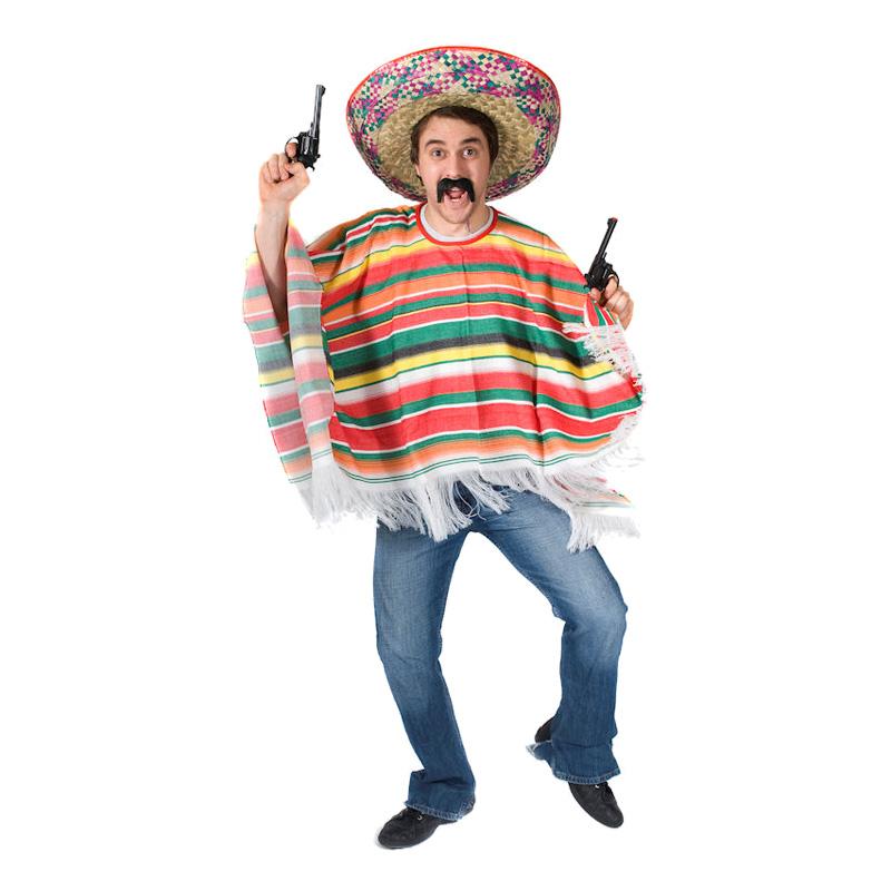 Mexikansk Poncho Maskeraddräkt - Standard