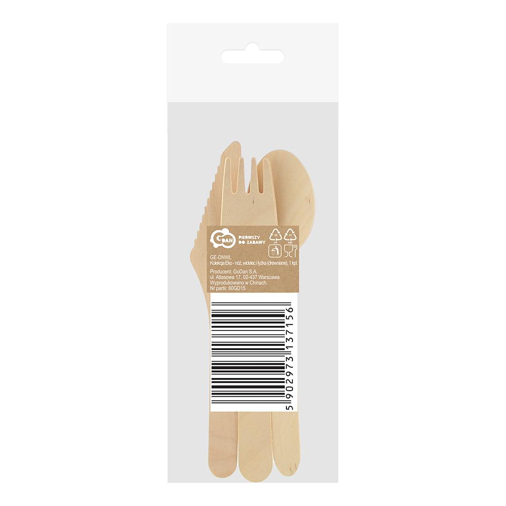 Miljövänliga Träbestick Set - 3-pack