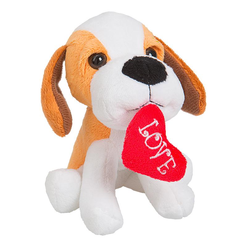 Hund - Mjukisdjur Hund med Hjärta
