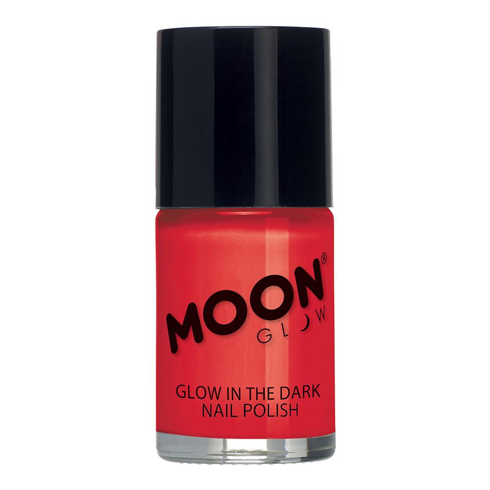 Moon Creations Självlysande Nagellack - Röd