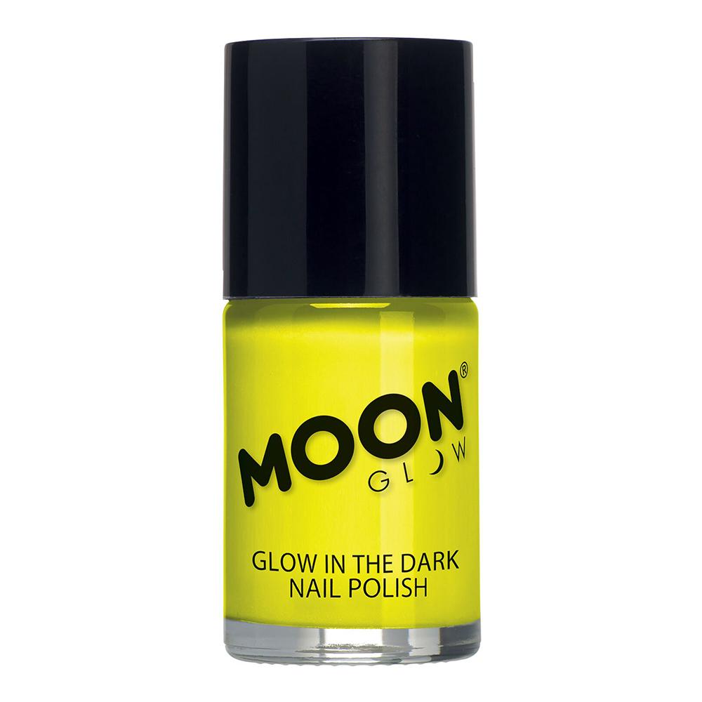 Moon Creations Självlysande Nagellack - Gul