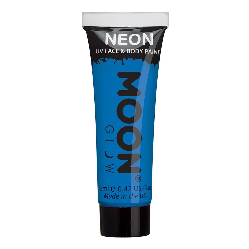 Moon Creations UV Neon Ansikts- & Kroppsfärg - Blå