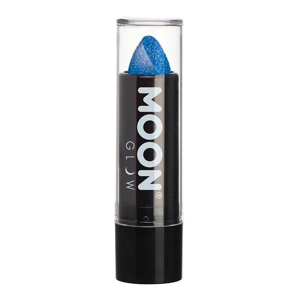Moon Creations UV Neon Glitter Läppstift - Blå