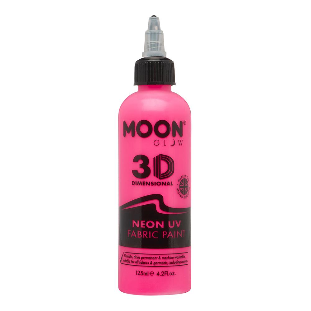 Moon Creations UV Neon Textilfärg - 125 ml Rosa