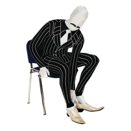 Morphsuit Gangster Maskeraddräkt - Large