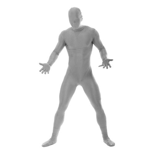 Morphsuit Silver Maskeraddräkt - Large