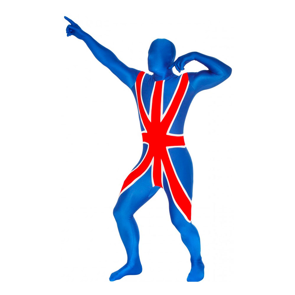 Morphsuit Storbritannien Maskeraddräkt - Medium