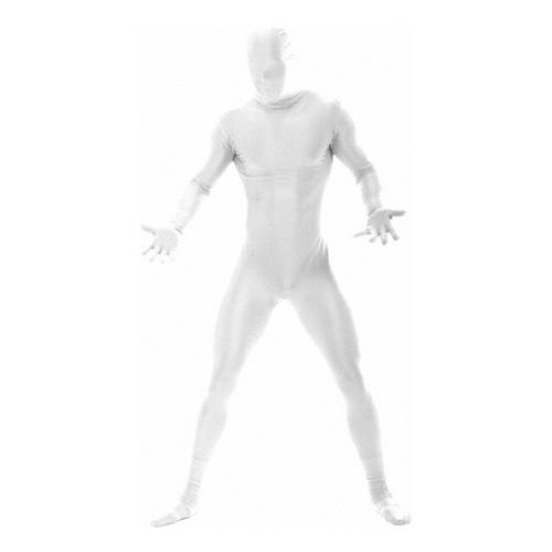 Morphsuit Vit Maskeraddräkt - Large