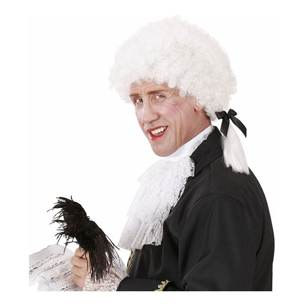 Mozart Vit Peruk - One size