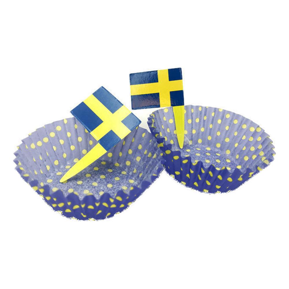 Muffinsformar Sverigeflagga - 20-pack