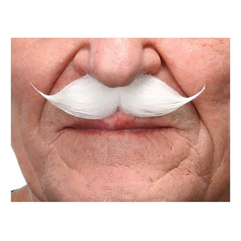 Mustasch Gentlemen Vit