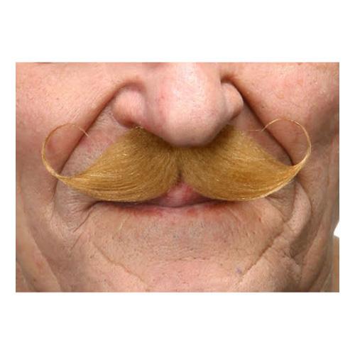 Mustasch Poirot Blond