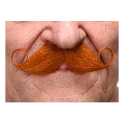Mustasch Poirot Röd