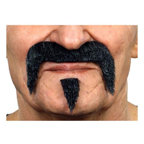 Mustasch-set Hulk Svart