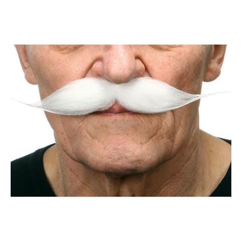 Mustasch Show Vit