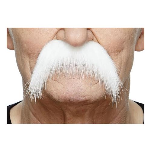 Mustasch Sober Vit