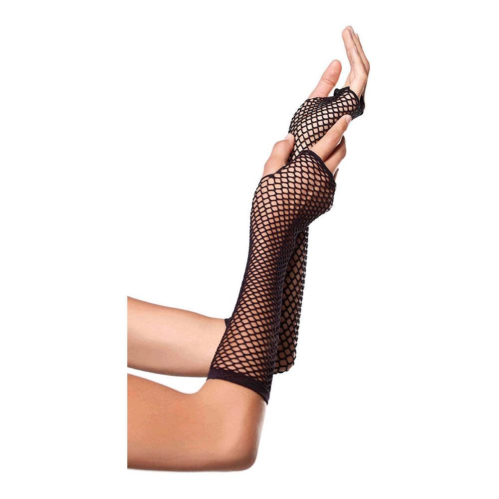 Näthandskar Fingerlösa Svarta Deluxe - One size
