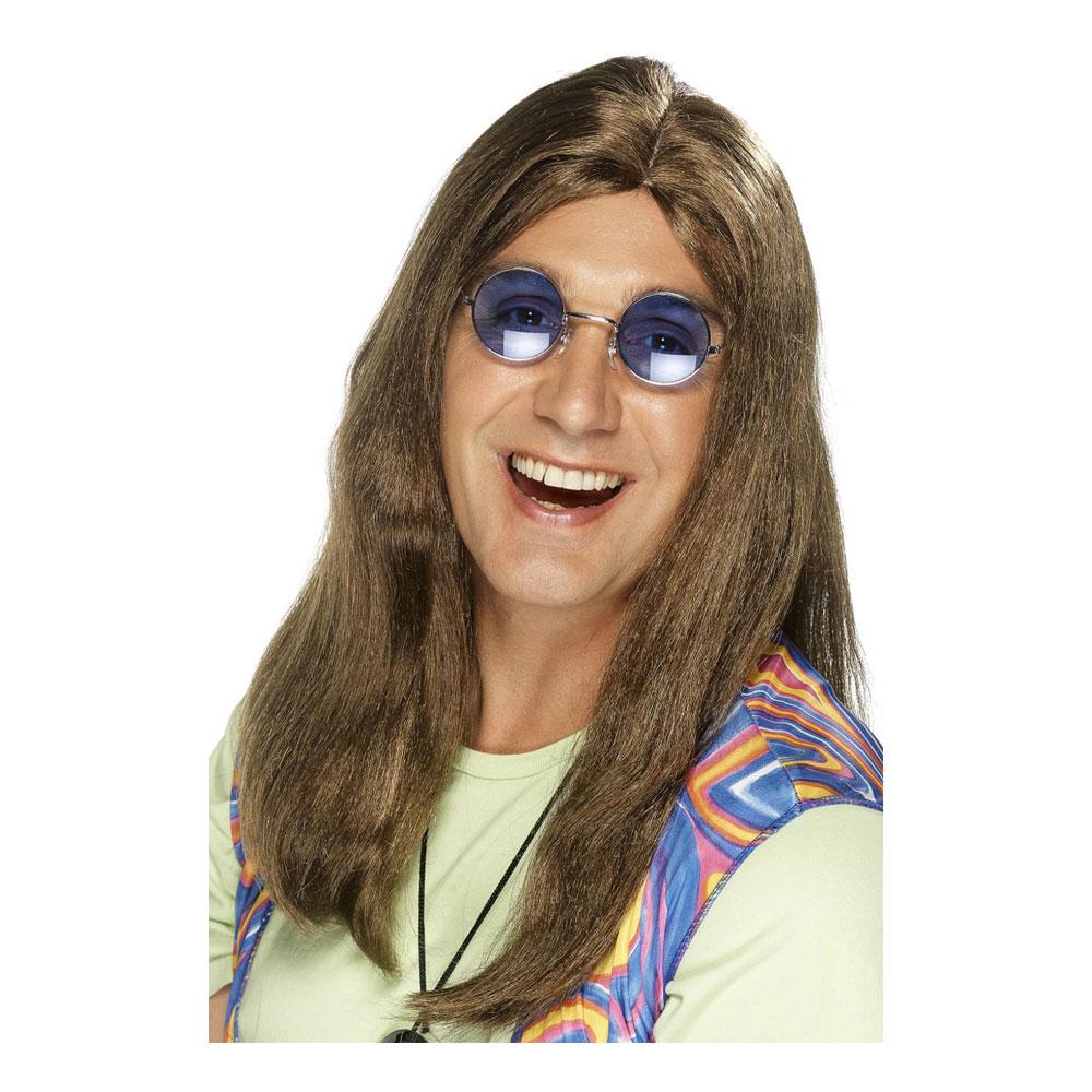 Neil Hippy Brun Peruk - One size