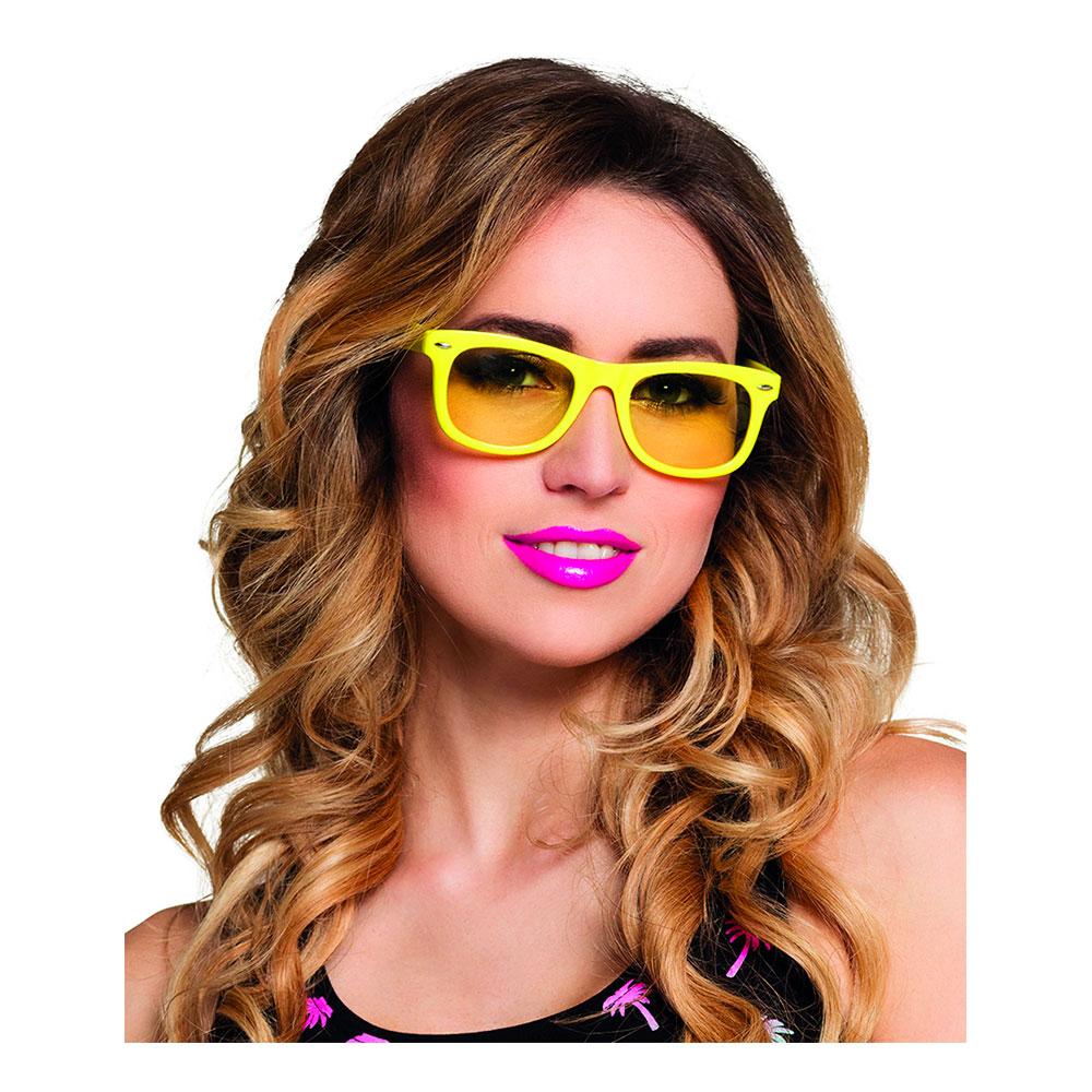 Neonfärgade Glasögon - Gul