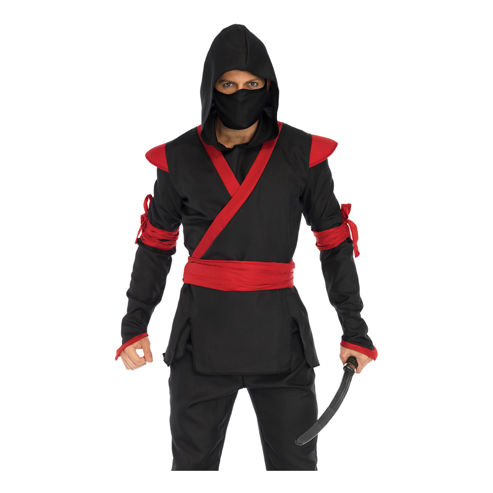 Ninja Assassin Herr Maskeraddräkt - Small/Medium
