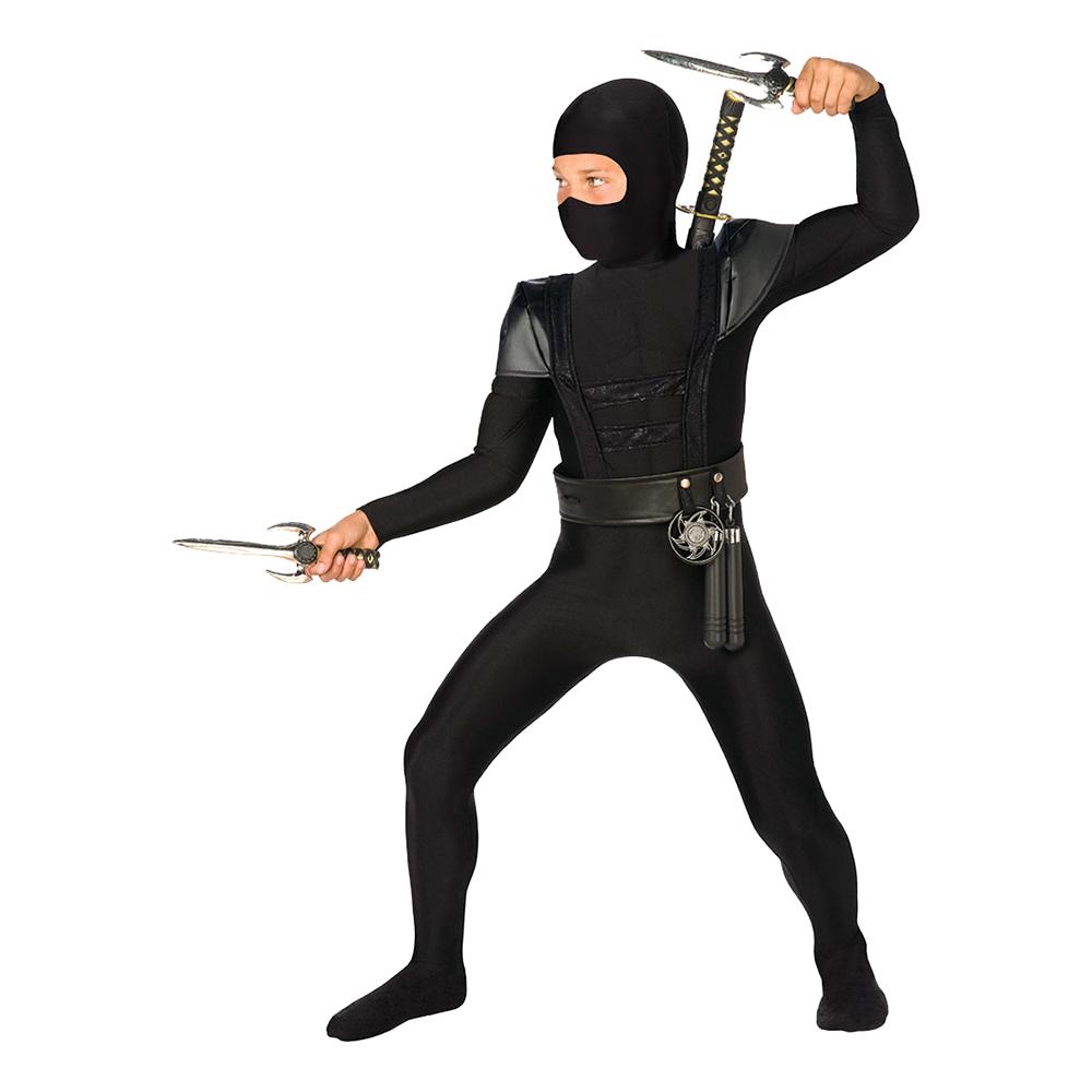 Utklädningsdräkter - Ninja Bodysuit Barn Maskeraddräkt - Small