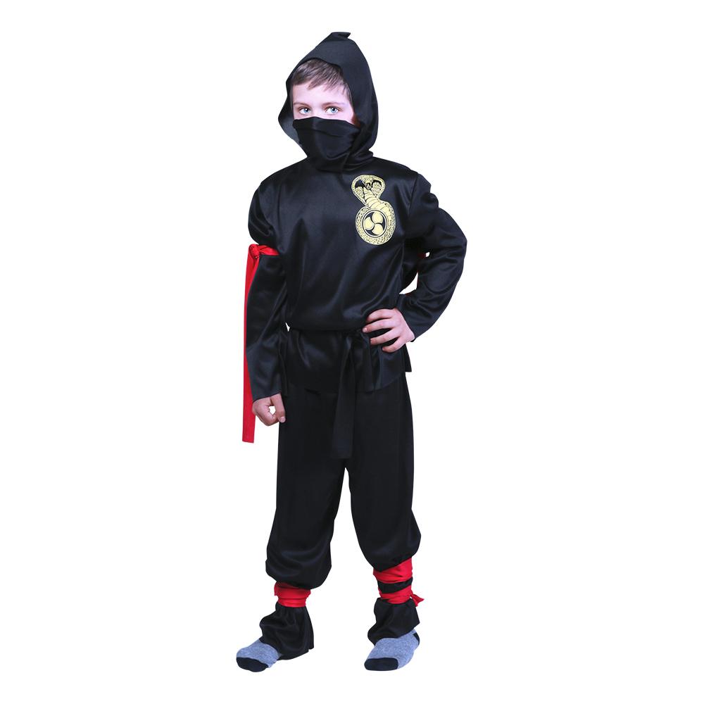Utklädningsdräkter - Ninja Budget Barn Maskeraddräkt - Small