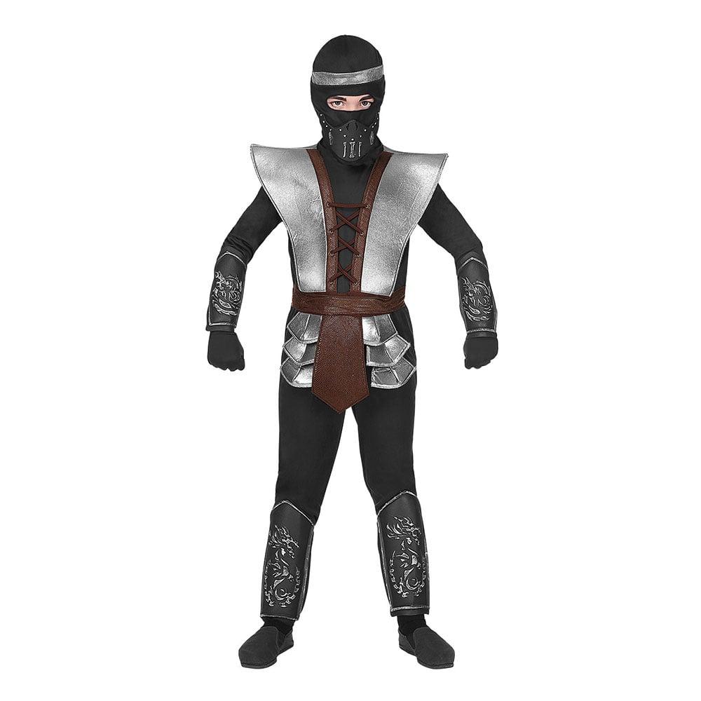 Utklädningsdräkter - Ninja Halloween Barn Maskeraddräkt - Small