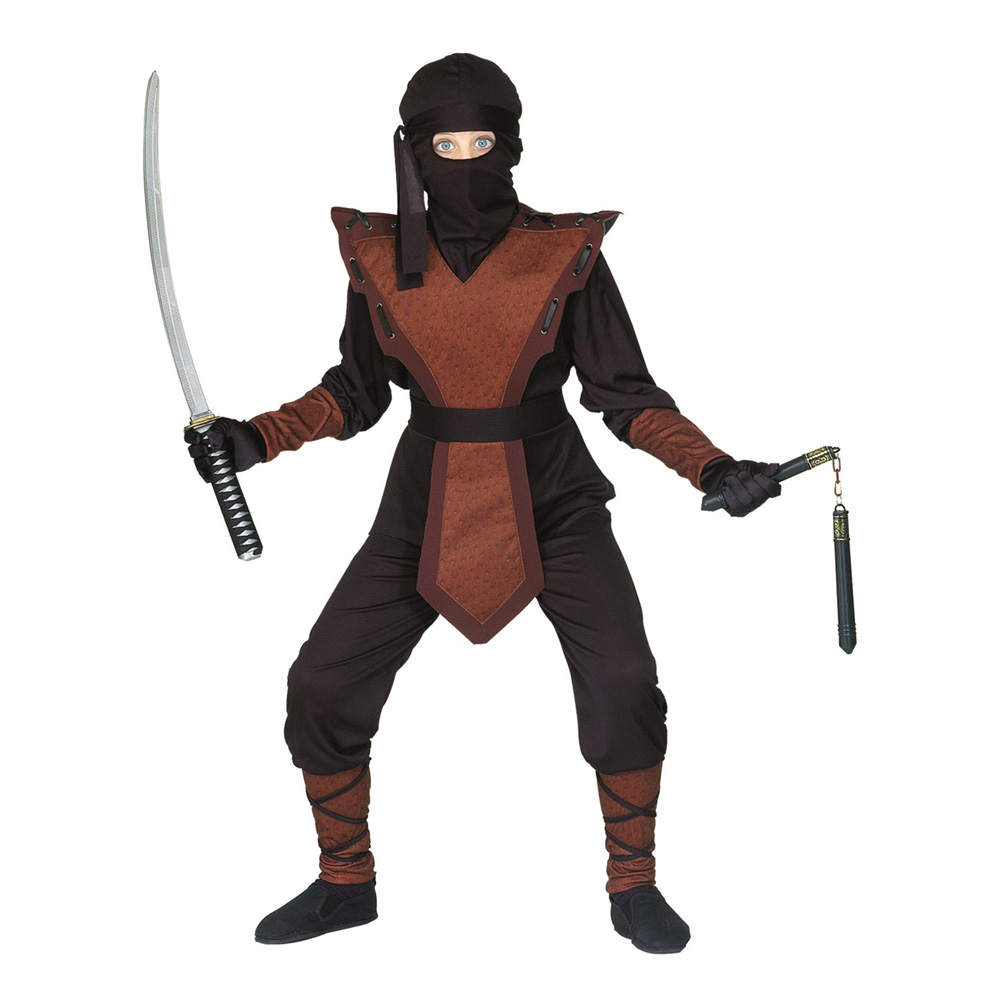 Ninja Jumpsuit Barn Maskeraddräkt - Small