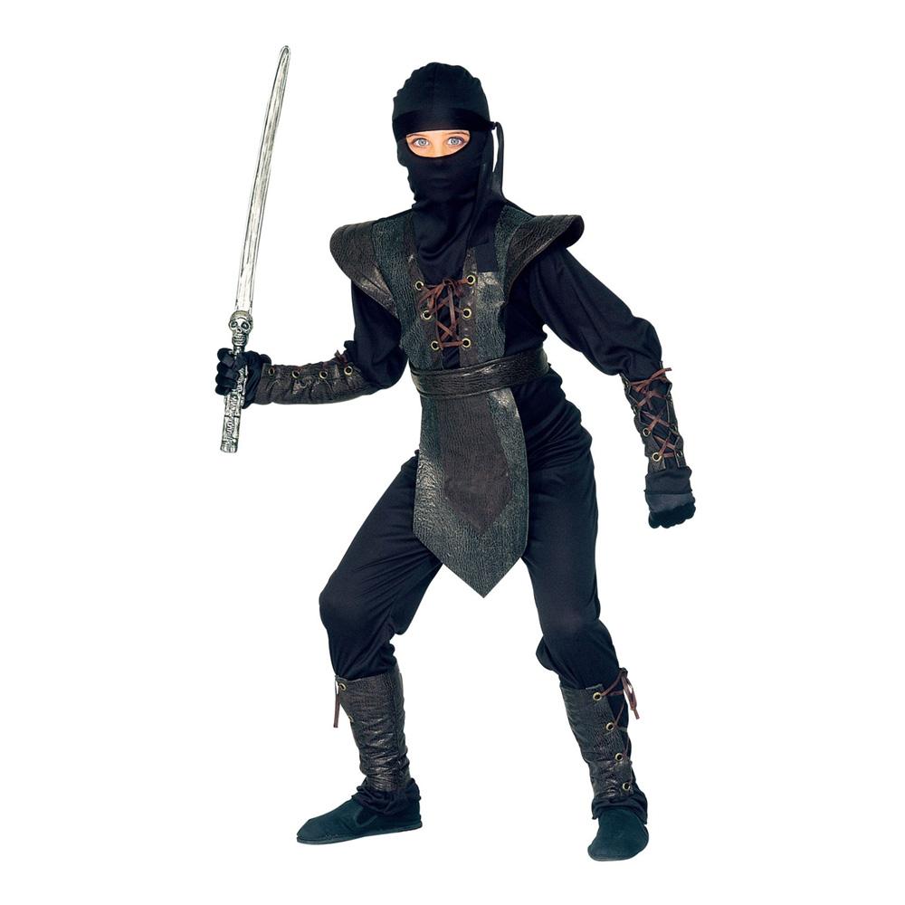 Ninja Master Jumpsuit Barn Maskeraddräkt - Medium