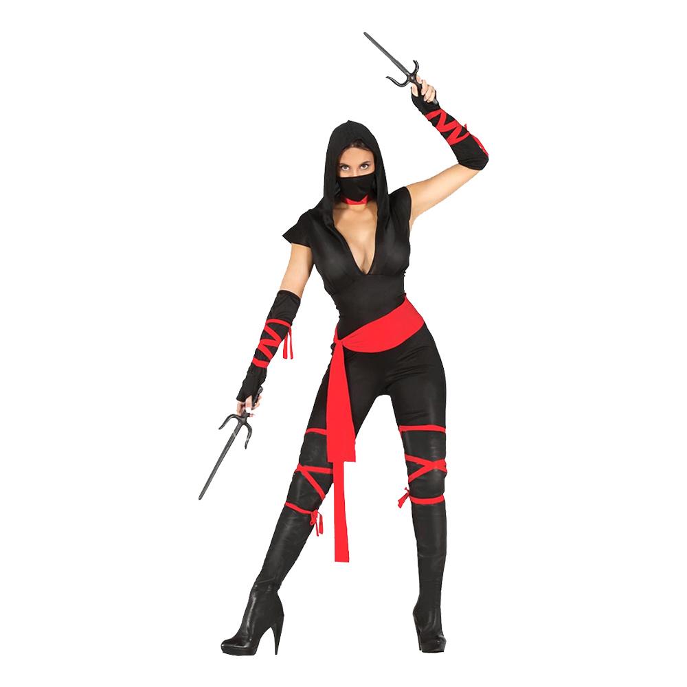 Ninjatjej Budget Maskeraddräkt - Small