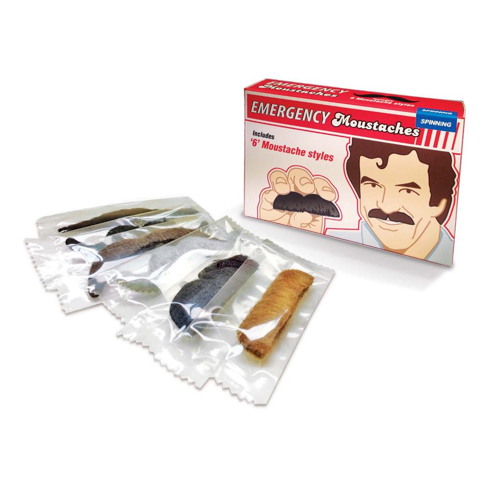 Nödfallsmustascher - 6-pack