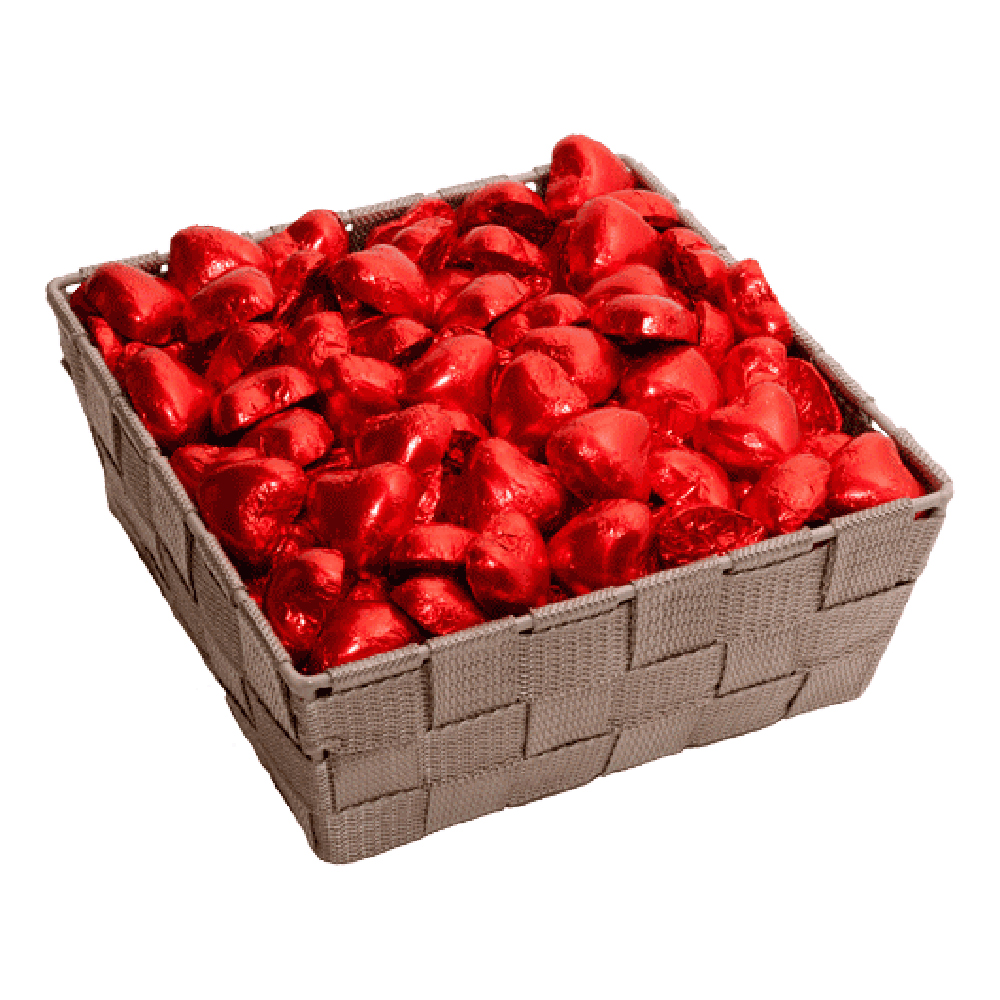 Nougathjärtan Röda Storpack - 1 kg