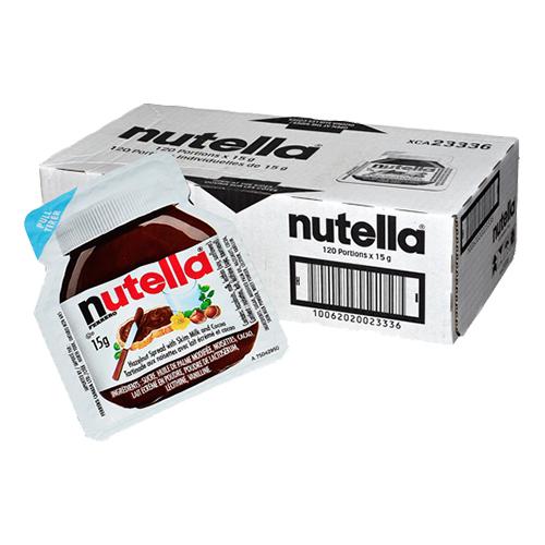 Nutella Portionsförpackning - 120-pack (Hel kartong)