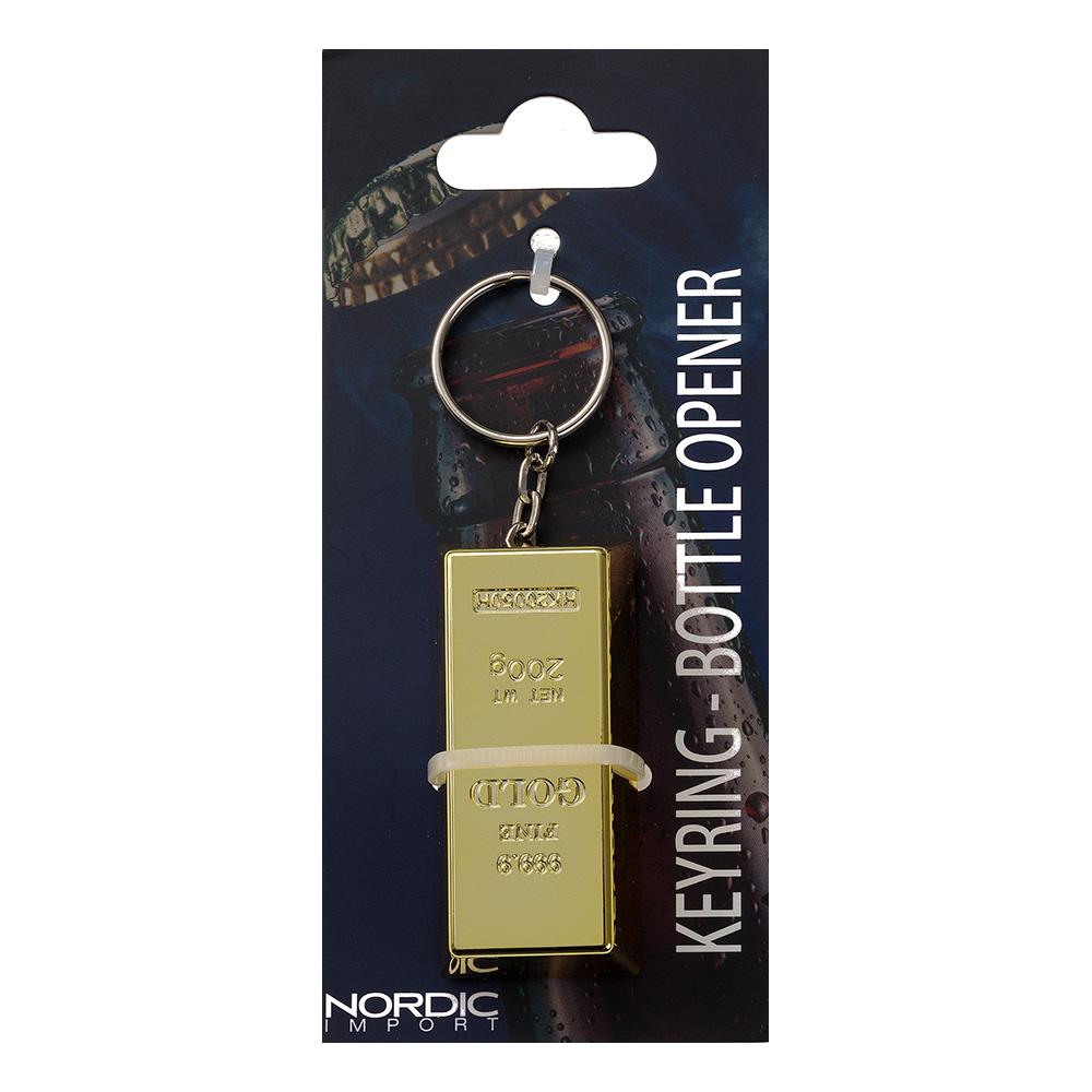 Nyckelring & Flasköppnare Guldtacka