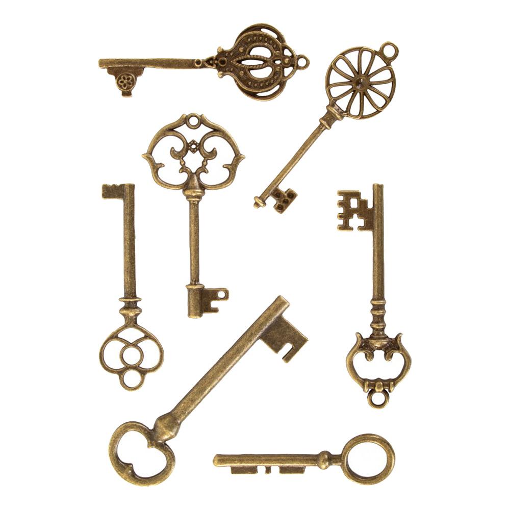 Nycklar Steampunk - 7-pack