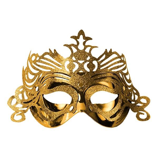 Ögonmask med Ornament - Guld