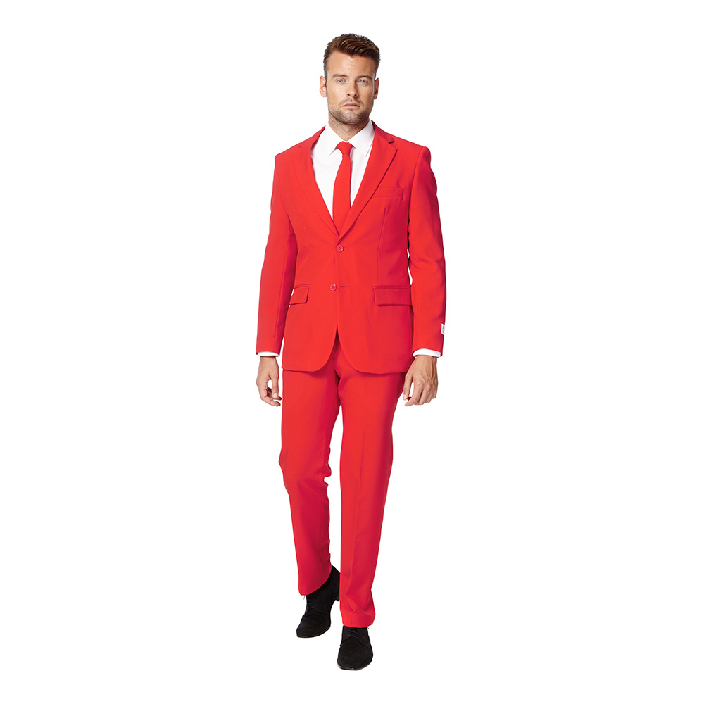 OppoSuits Red Devil Kostym - 46