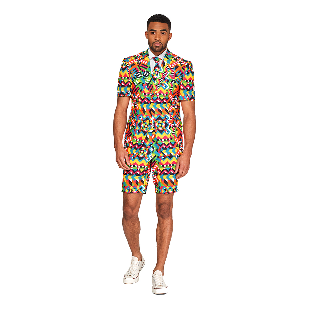 OppoSuits Abstractive Shorts Kostym - 46
