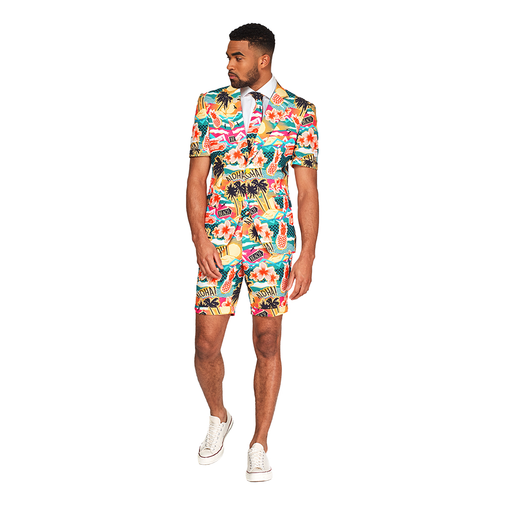 OppoSuits Aloha Hero Shorts Kostym - 46