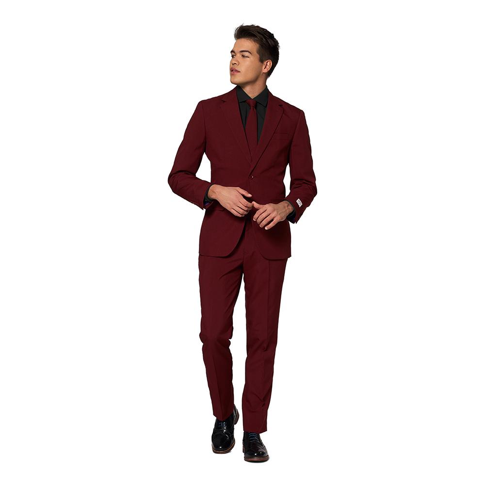 OppoSuits Blazing Burgundy Kostym - 62