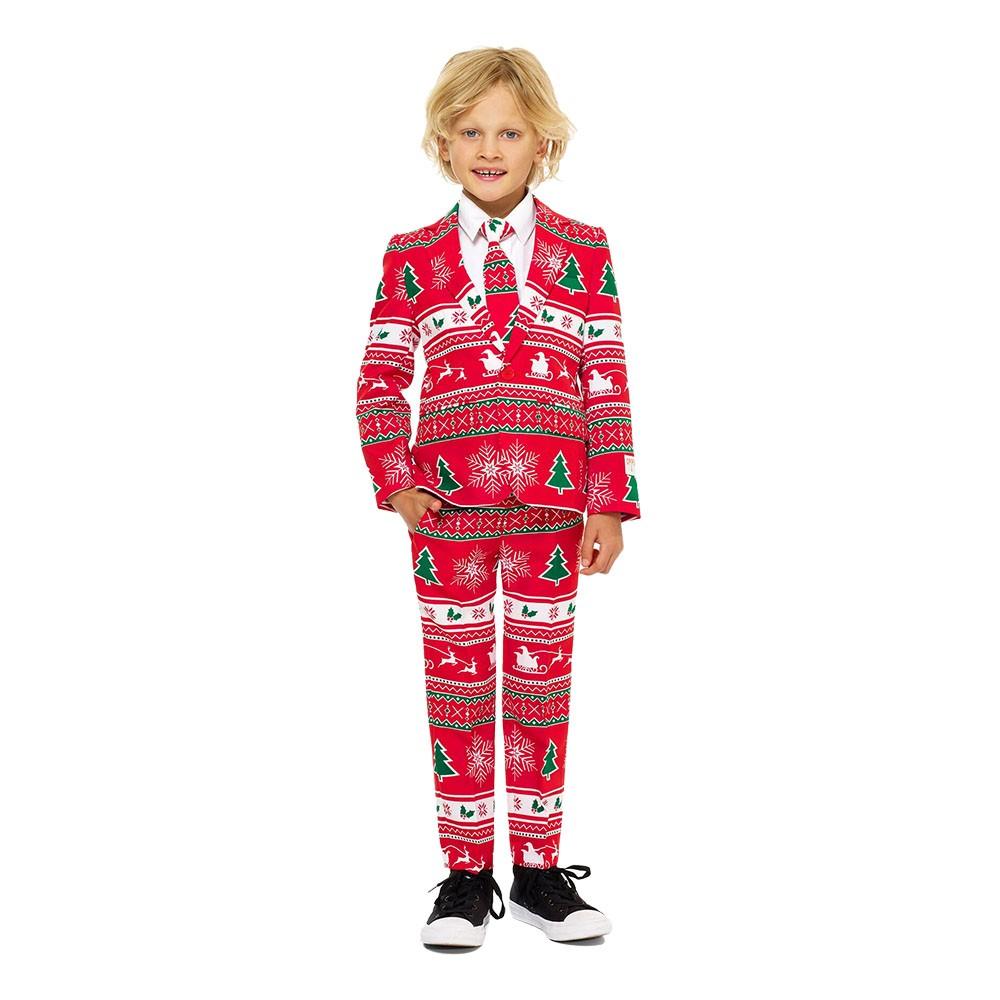 OppoSuits Boys Winter Wonderland Kostym - 92/98
