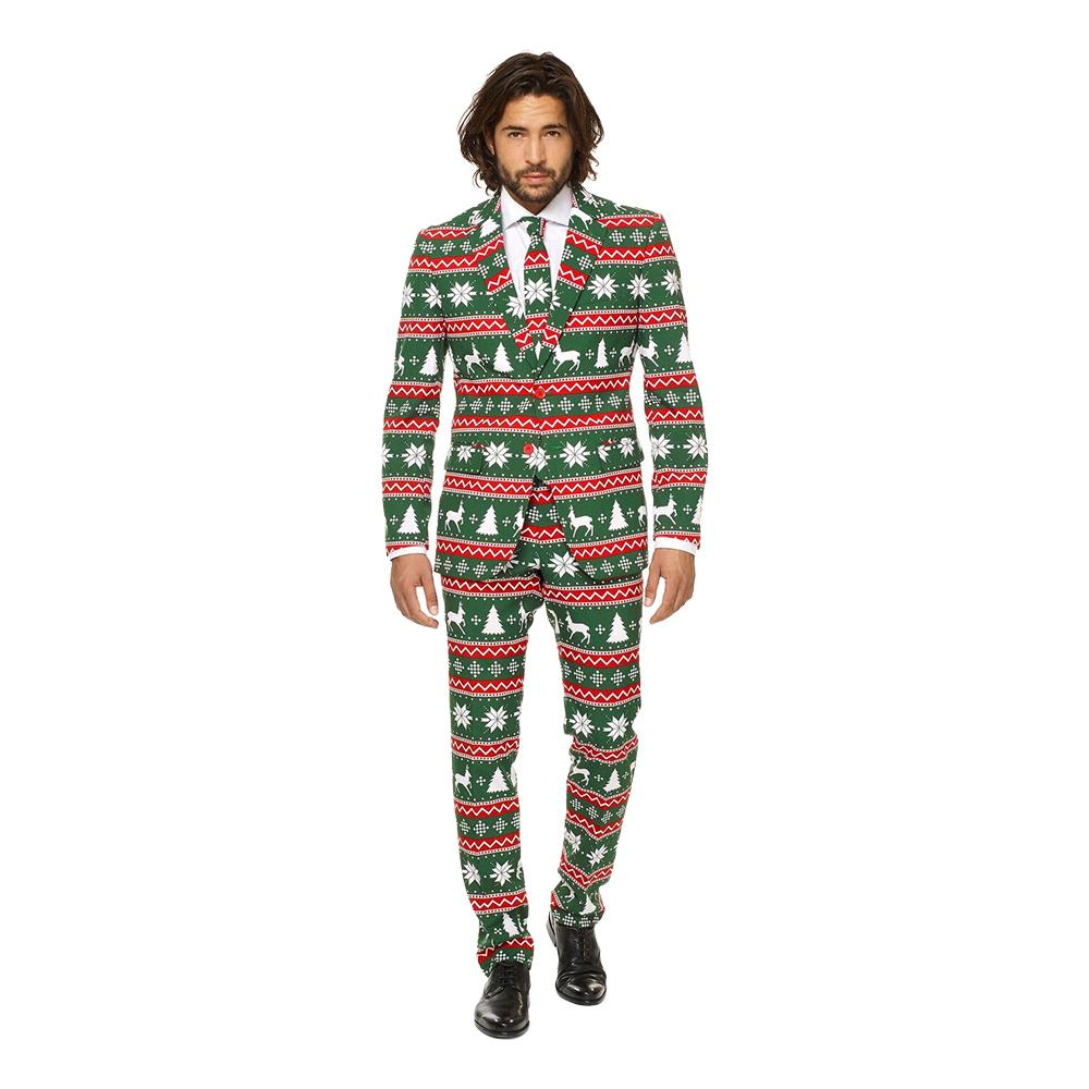 OppoSuits Festive Green Kostym - 46