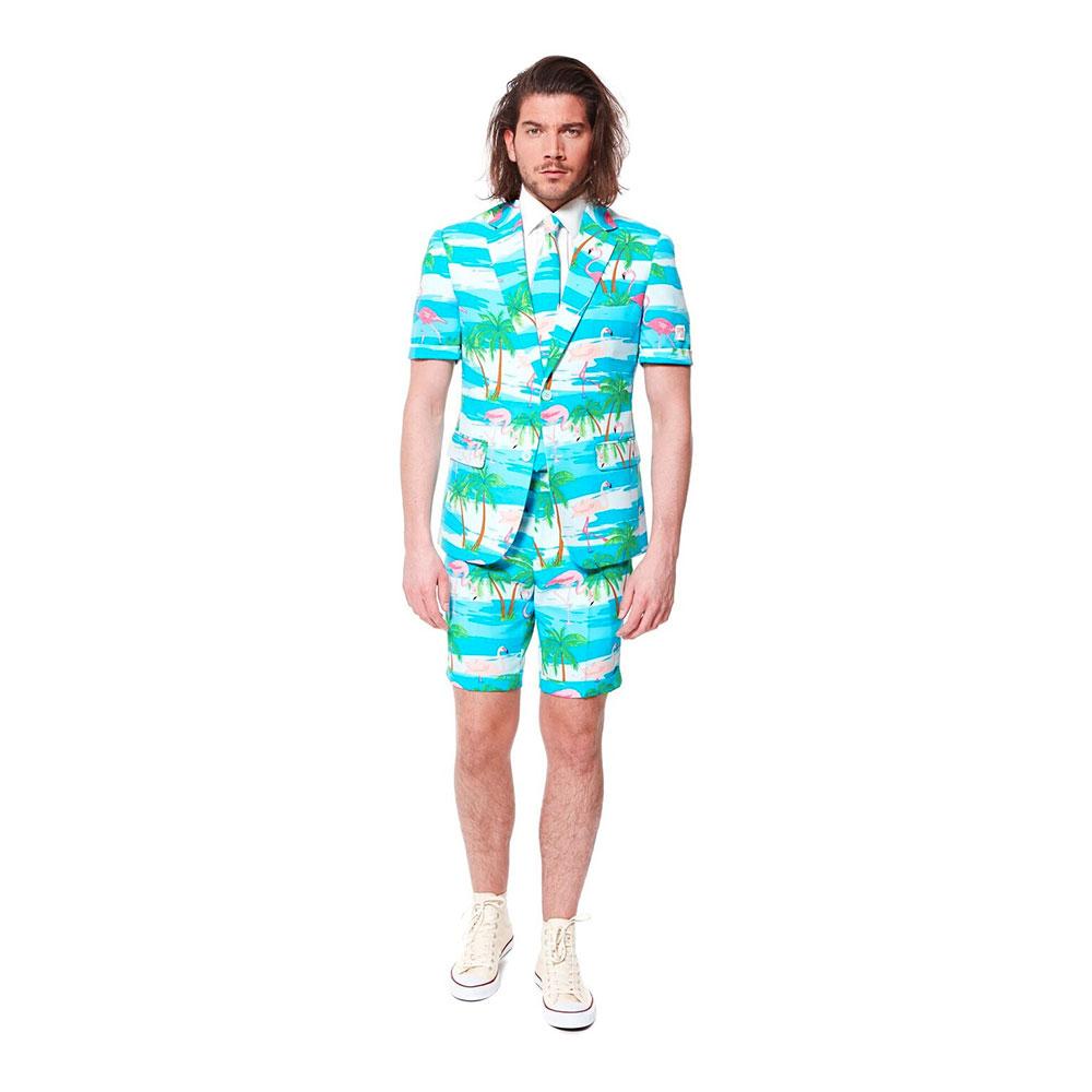 OppoSuits Flaminguy Shorts Kostym - 48