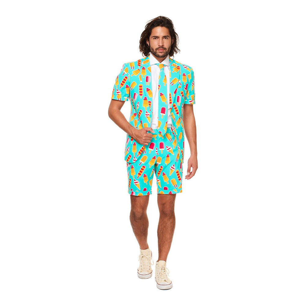 OppoSuits Iceman Shorts Kostym - 50