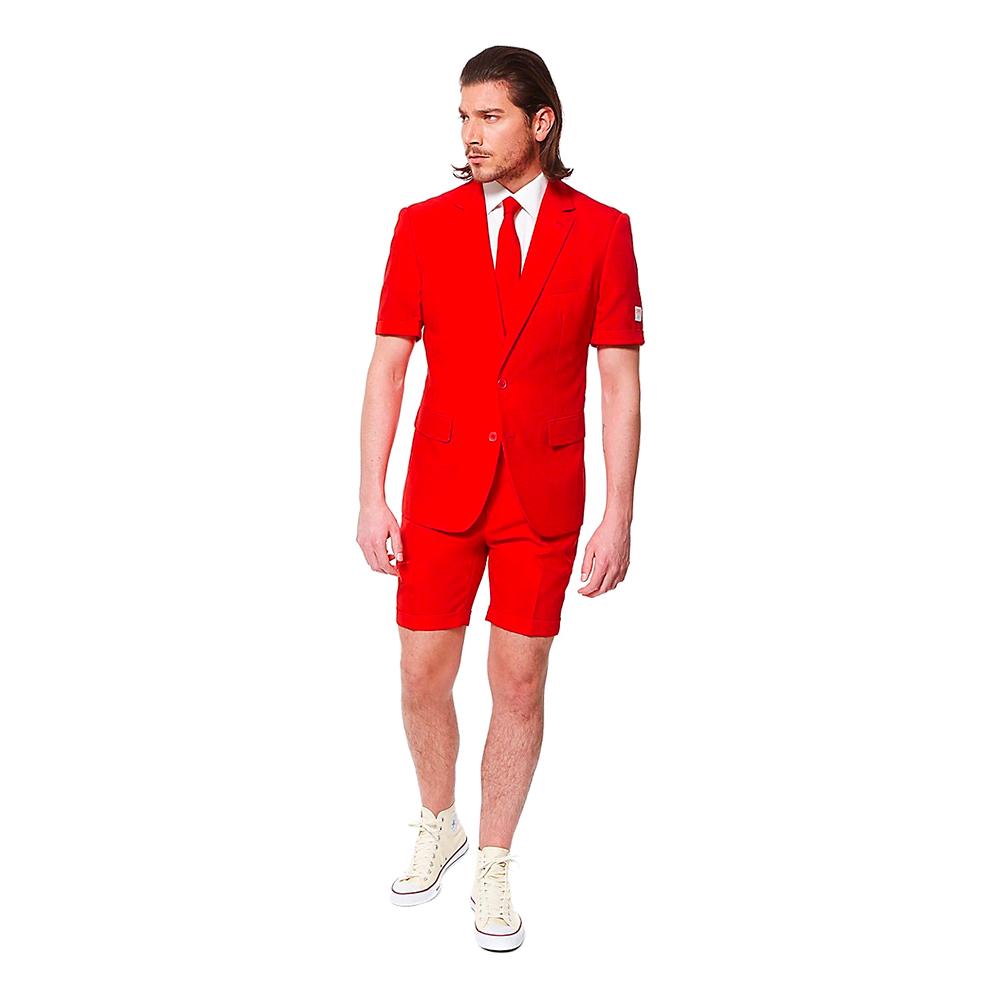 OppoSuits Red Devil Shorts Kostym - 50