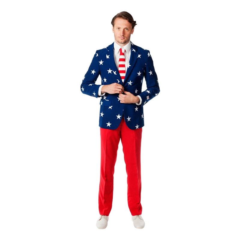 OppoSuits Stars and Stripes Kostym - 46