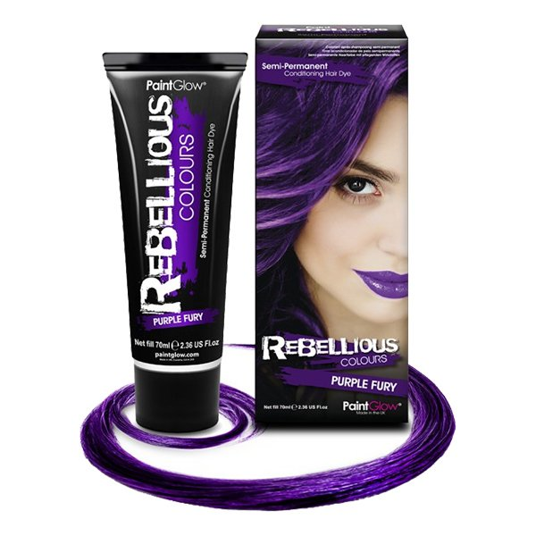 PaintGlow Semi-Permanent Hårfärg - Purple Fury